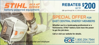 Special Offer for East Central Energy Members
