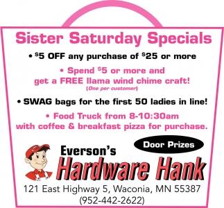 Sister Saturday Specials