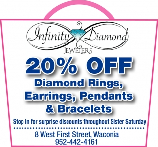 20% off Diamond Rings, Earrings, Pendants & Bracelets