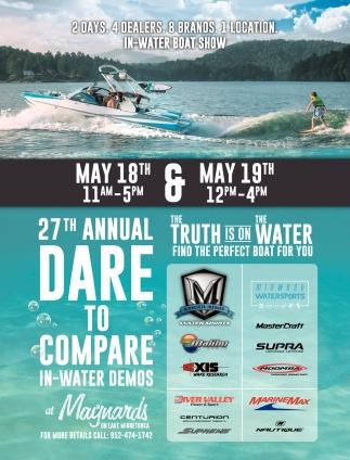 27th Annual Dare to Compare In-water Demos