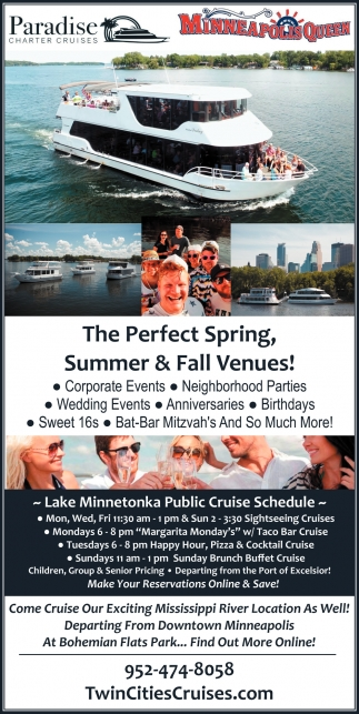 The Perfect Spring, Summer & Fall Venues!