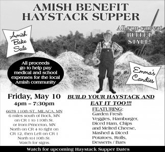 Amish Benefit Haystack Supper