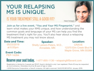 Your Relapsing MS is Unique