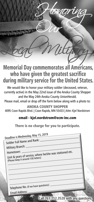 Honoring Our Local Military
