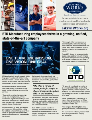BTD Manufacturing Employees Thrive in a Growing, Unified, State-of-the-art Company