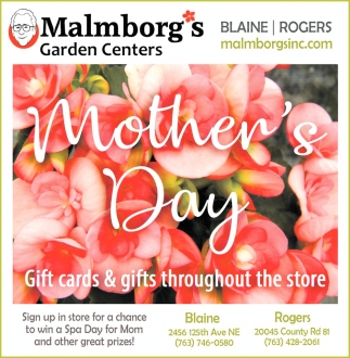 Mother's Day Gift Cards & Gifts Throughout the Store