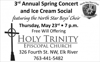 3rd Annual Spring Concert and Ice Cream Social