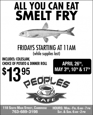 All You Can Eat Smelt Fry