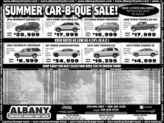 Summer Car-B-Que- Sale!