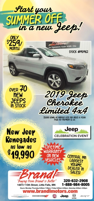 Start Your Summer Off in a New Jeep!