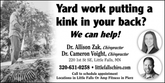 Yard Work Putting a Kink in Your Back?, We Can Help!
