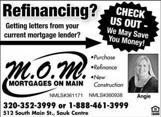 Check Us Out - We May Save You Money!