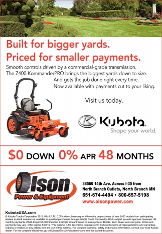 Built for Bigger Yards. Priced for Smaller Payments