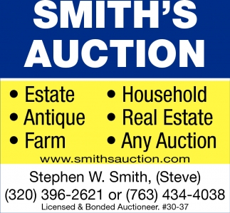Licensed & Bonded Auctioneer
