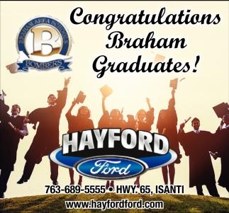Congratulations Braham Graduates!