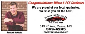 Congratulations Milaca & FCS Graduates