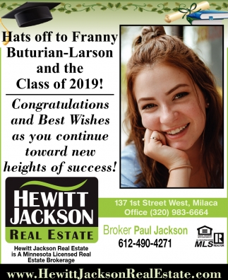 Hats Off to Franny Buturian-Larson and the Class of 2019!