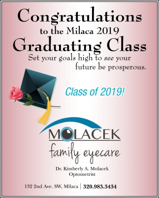Congratulations to the Milaca 2019 Graduating Class