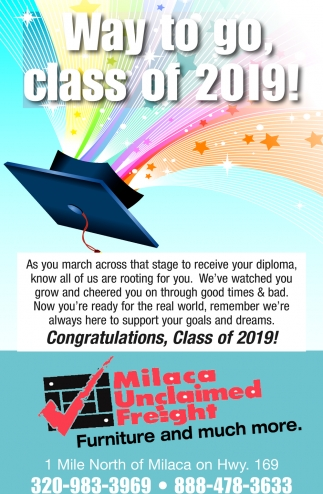 Way to Go, Class of 2019!