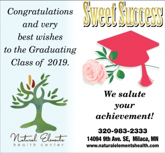 Congratulations and Very Best Wishes to the Graduating Class of 2019