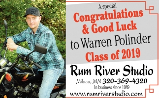 Congratulations & Good luck to Warren Polinder Class of 2019