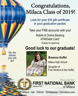 Congratulations, Milaca Class of 2019!