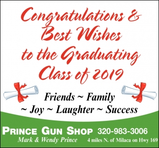 Congratulations & Best Wishes to the Graduating Class of 2019