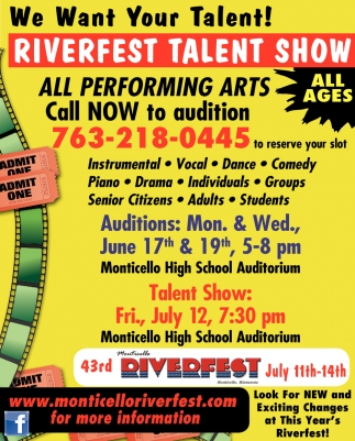 We Want Your Talent!