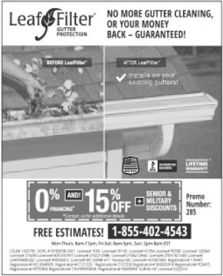 No More Gutter Cleaning, Or Your Money back - Guaranteed!