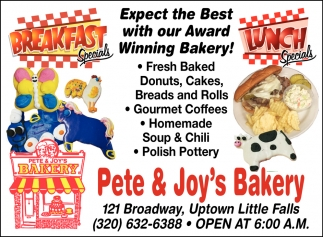 Expect the Best with Our Award Winning Bakery!