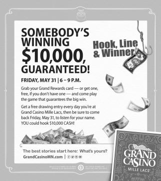 Somebody's Winning $10,000 Guaranteed!