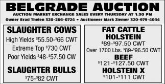 Auction Market Exchange Sales Every Thursday