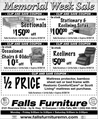 Memorial Week Sale