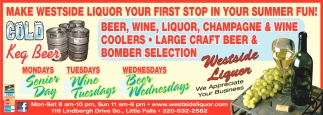 Make Westside Liquor Your First Stop in Your Summer Fun!