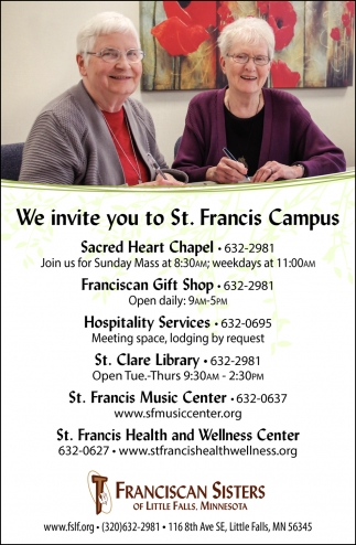 We Invite You to St. Francis Campus