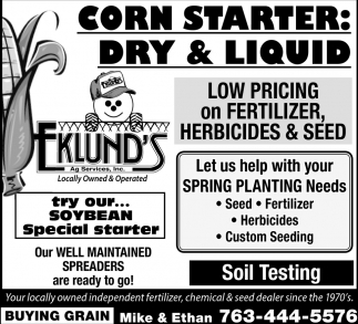 Low Pricing On Fertilizer, Herbicides & SEed