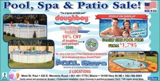 Pool, Spa & Patio Sale!