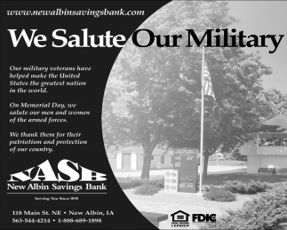 We salute Our Military