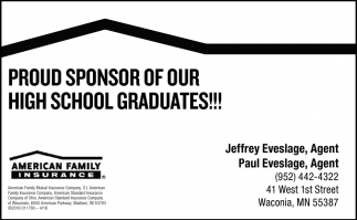 Proud Sponsor of Our High School Graduates!