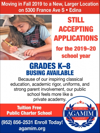 Grades K-8 Busing Available