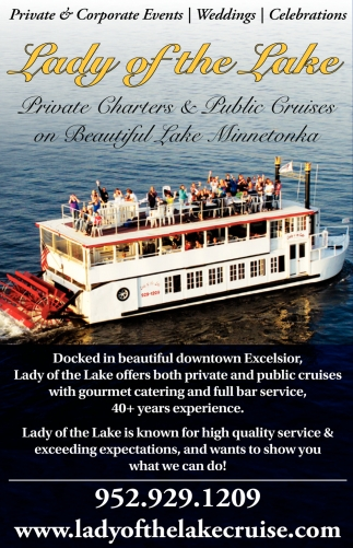 Private Charters & Public Cruises On Beautiful Lake Minnetonka