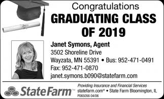 Congratulations Graduating Class of 2019