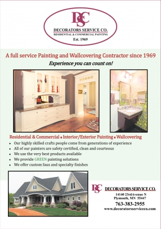 A Full Service Painting and Wallcovering Contractor Since 1969