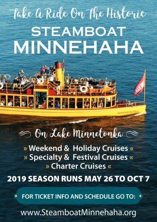 Take a Ride On the Historic Steamboat Minnehaha