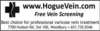 FREE Vein Screening