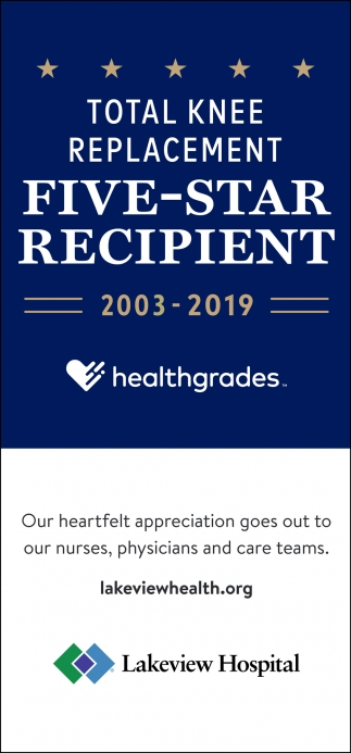 Total Knee Replacement Five-Star Recipient