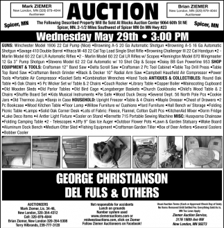 Auction Wednesday May 29th