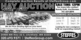 Hay Quality Tested Auction
