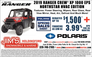 2019 Ranger Crew XP 1000 EPS Northstar HVAC Edition
