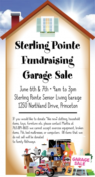 Sterling Pointe Fundraising Garage Sale